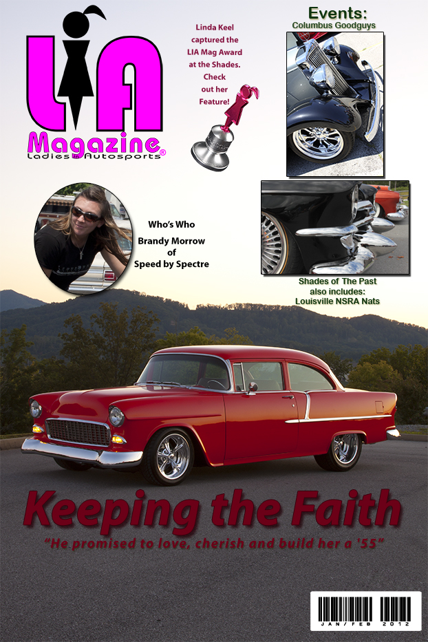 Linda Keel's Keeping the Faith with her '55 Chevy