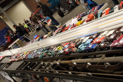 The slot car track was awesome
