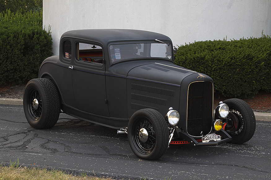 Marie Southworth's '32 Ford Coupe 3/4 Front